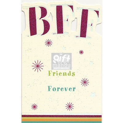 BFF Best Friends Forever Happy Birthday Greeting Card