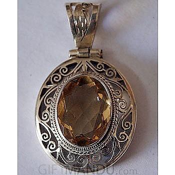 Sterling silver golden topaz pendant send gifts to nepal jewelry sterling silver golden topaz pendant sterling silver golden topaz pendant aloadofball Images