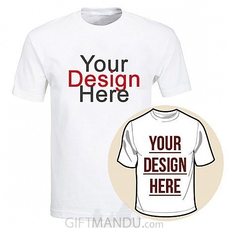 553253e1 ... Custom Tshirt Printing With Your Photo and Text (White Round Neck) - M,  ...