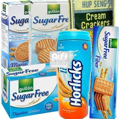 Sugar free combo gift hamper online shop gifts to nepal giftmandu sugar free picks sugar free biscuits crackers and lite horlicks negle Image collections