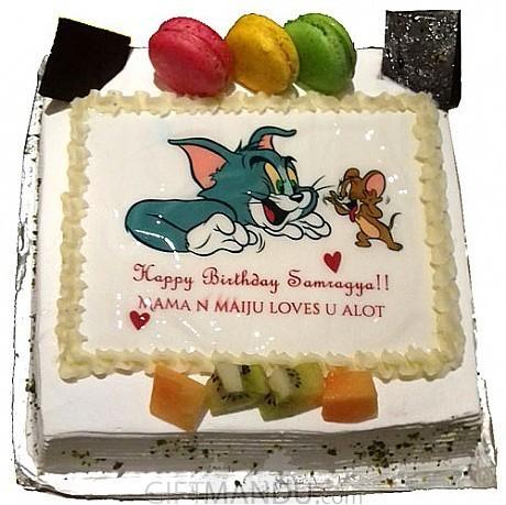 Tom Jerry Photo Cake For Kathmandu Valley