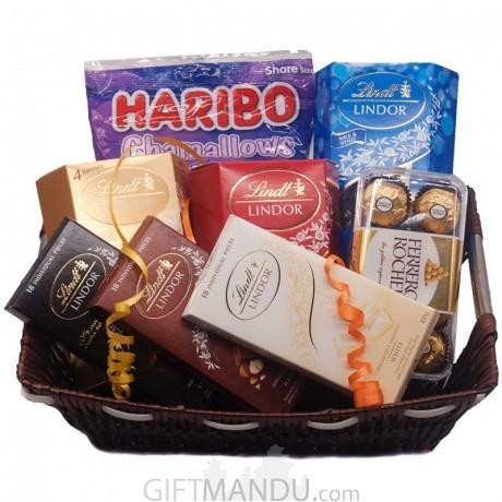 Valentine Chocolate Gift Basket Online Gifts To Nepal Giftmandu