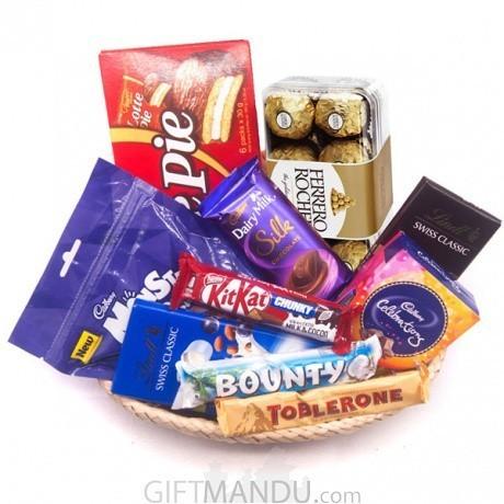 Special Chocolates Hamper Gift Basket Special Chocolates Hamper Gift Basket