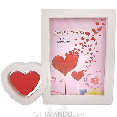 Double Heart Designed Photo Frame | Gifts to Nepal | Giftmandu