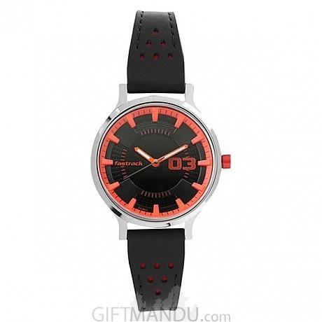 fd873e367 ... Fastrack Black Dial Analog Watch for Women (6166SL02) ...