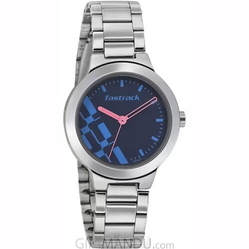 Fastrack Analog Stainless Steel Blue Watches for women - (6150SM03)