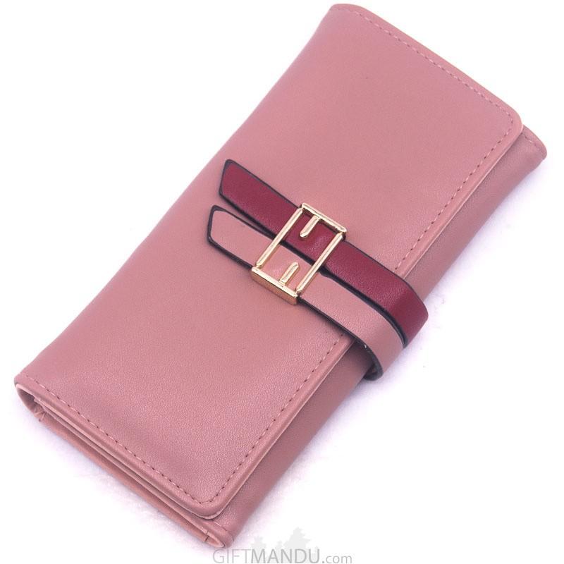 Stylish Soft Ladies Hand Bag - Pink