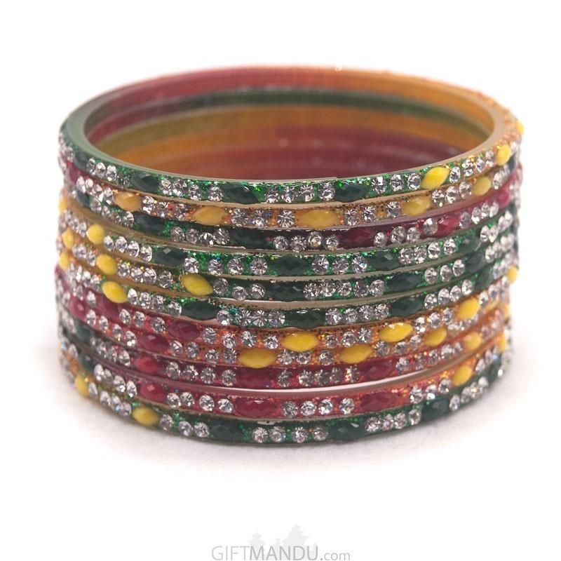 1 Dozen Multi-Color Bangles Chura Set