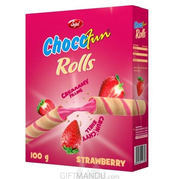 Chocofun Rolls (Strawberry) 100g | Gifts to Nepal | Giftmandu