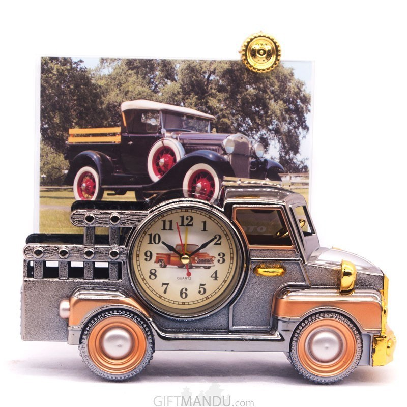 Classical Truck Model Photo Frame Clock