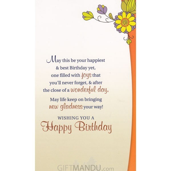 Sending warm wishes on your birthday greeting card send gifts to sending warm wishes on your birthday greeting card send gifts to nepal stopboris Image collections