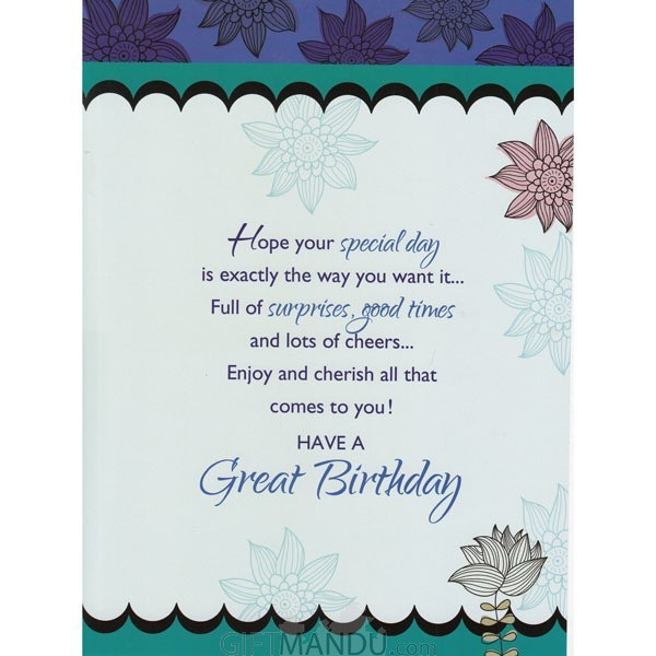 Happy birthday greeting card gc 5398 gifts to nepal giftmandu happy birthday greeting card send gifts to nepal stopboris Images
