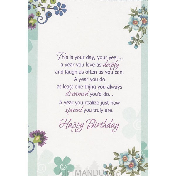 ... For A Darling Daughter   Greeting Card; Wishing You Happiness On Your  Birthday   Greeting Card   Send Gifts To Nepal ...