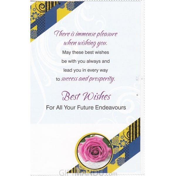 best wishes for all your future endeavours greeting card send