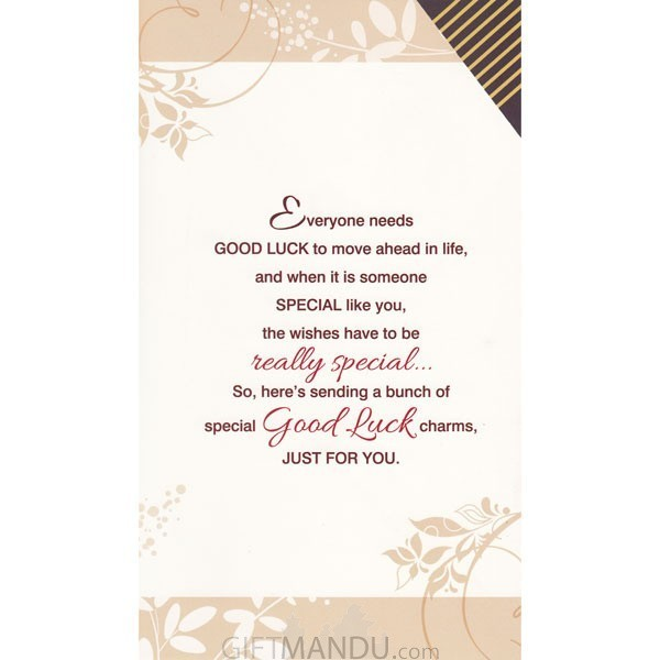 Special good luck wishes just for you greeting card send gifts special good luck wishes just for you greeting card send gifts to nepal m4hsunfo Images