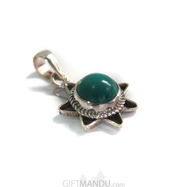Sterling silver dark green stone pendant send gifts to nepal sterling silver dark green stone pendant send gifts to nepal aloadofball Choice Image