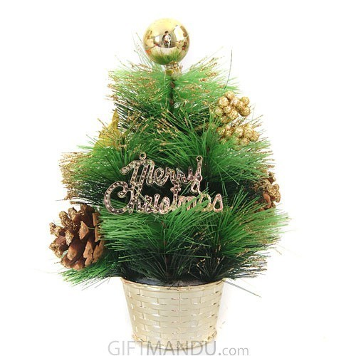 ... Christmas Tree - Artificial Pine Table Top Tree with Decoration (20cms Tall) - Send ...