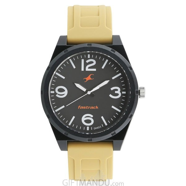 Fastrack Black Dial Analog Watch for Men (38040PP02)