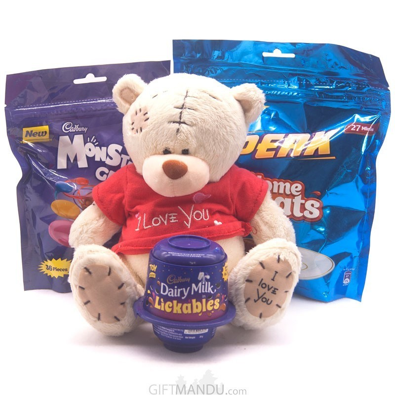 Teddy Bear & Chocolate Gift Pack