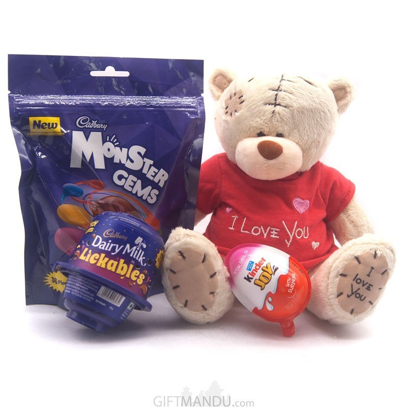 Teddy Bear & Chocolates Pack