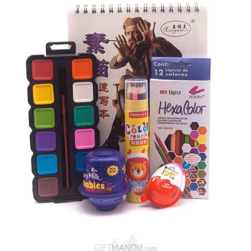 Kids favorite Chocolates And Drawing Set