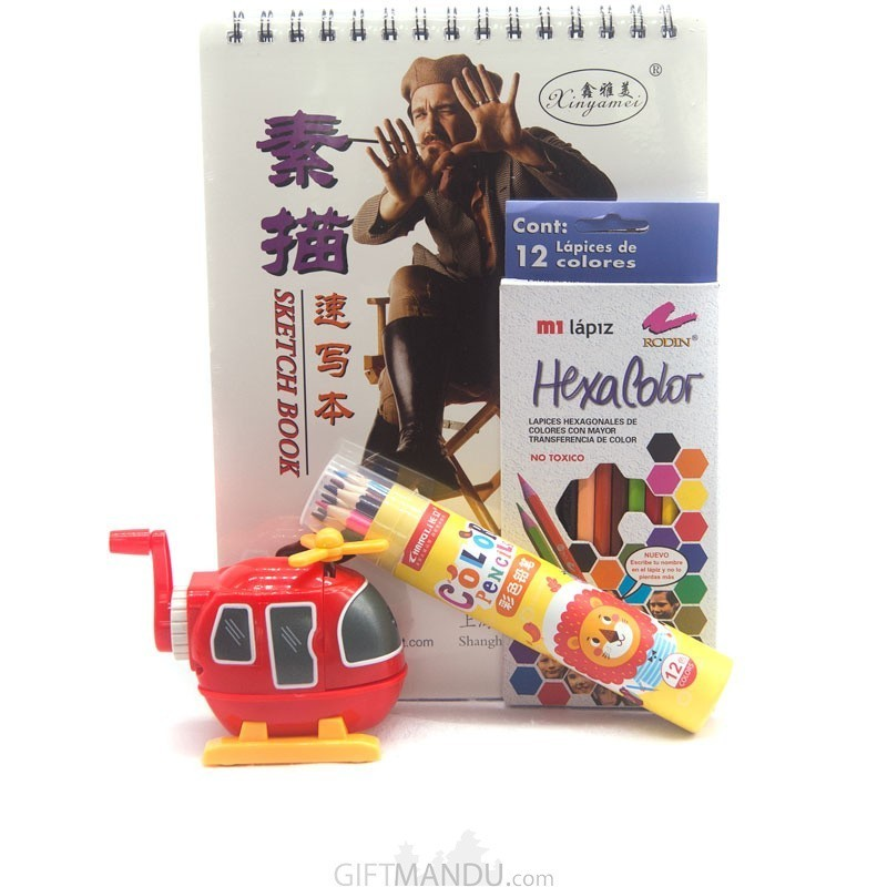 4 Stationary Items Set For Kids