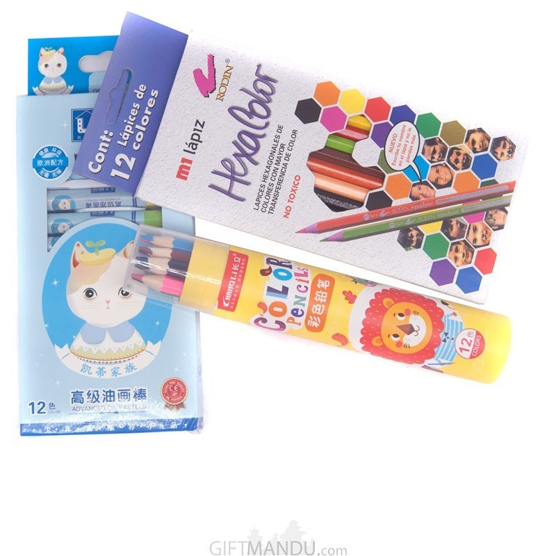 Buy 3 Different Coloring Set For Kids Online | Gifts to Nepal ...