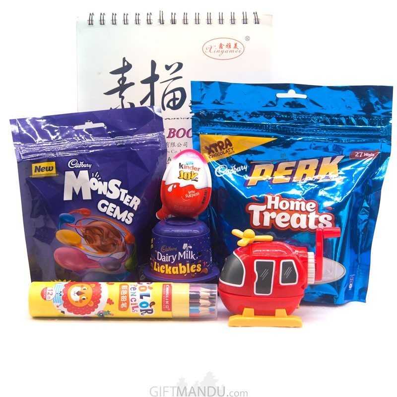Chocolates and Stationery Gift Set For Kids