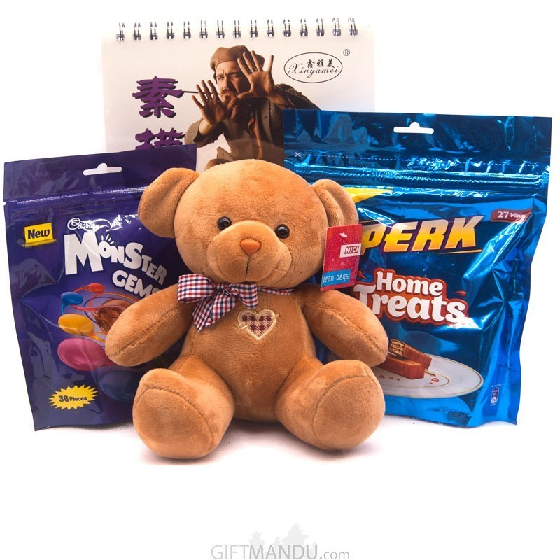 Sketch Book, Teddy And Chocolates For Kids