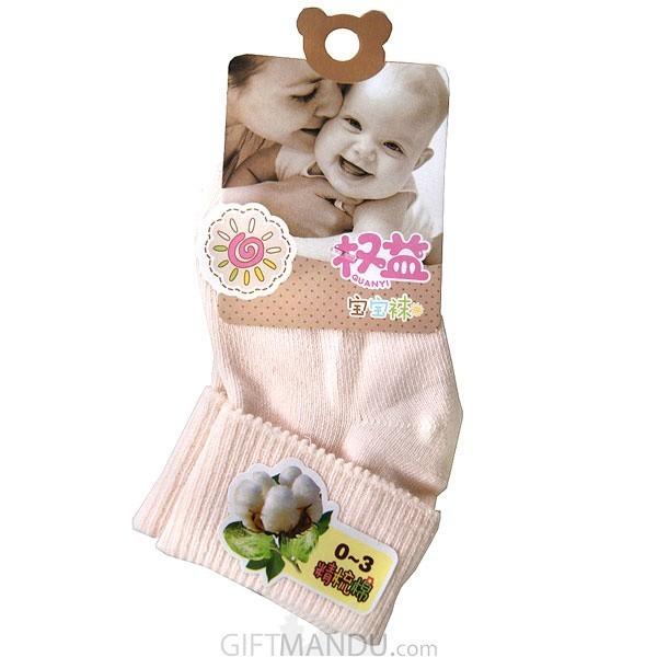 Orange Cotton Baby Socks