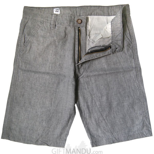Summer Cotton Half Pant (Grey)