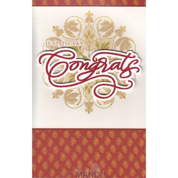 Just To Say Congrats - Pop Up Greeting Card