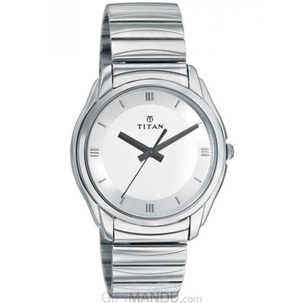 Titan Brass Case White Dial Analog Watch for Men (1578SM01)