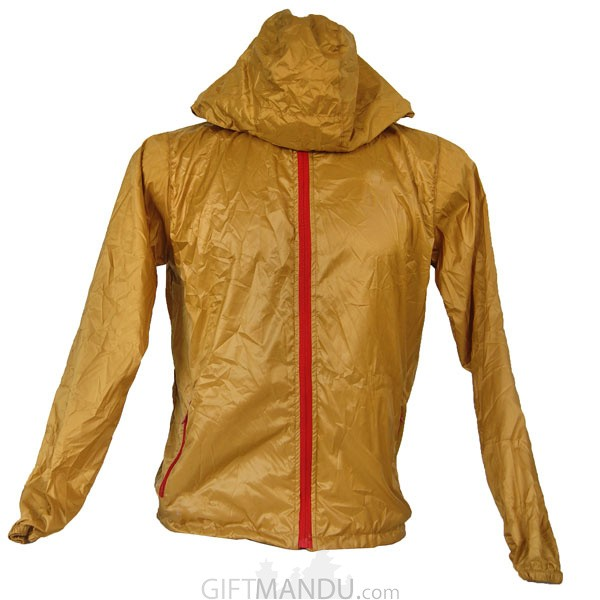 Yellow Full Sleeves Polyester Windcheater (XL)