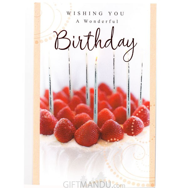 wishing you a wonderful birthday greeting card gc 5513