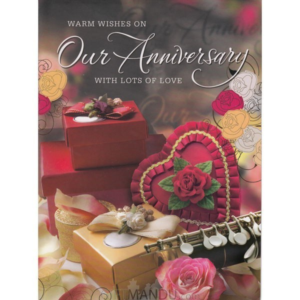 Warm Wishes On Our Anniversary - Greeting Card