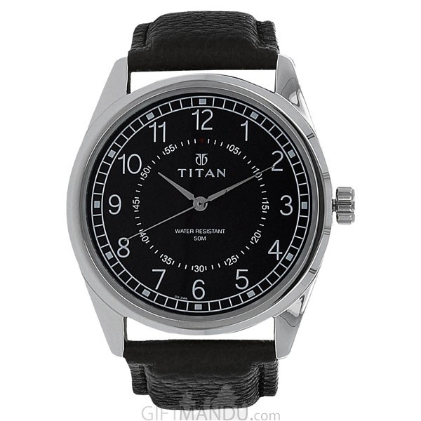 Titan Black Dial Analog Watch for Men (1729SL02)