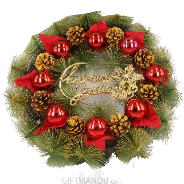 Christmas Decorations Wreath (15 Inch Diameter)