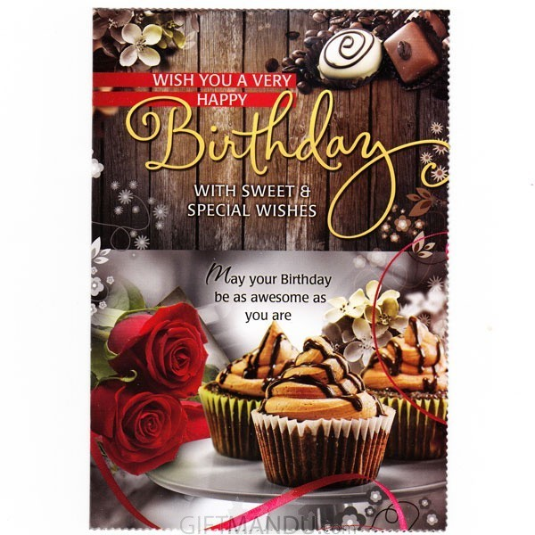 Wish You A Very Happy Birthday- Greeting Card