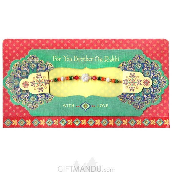 For You Brother On Rakhi With Love Greeting Card - (Rakhi Thread Included)