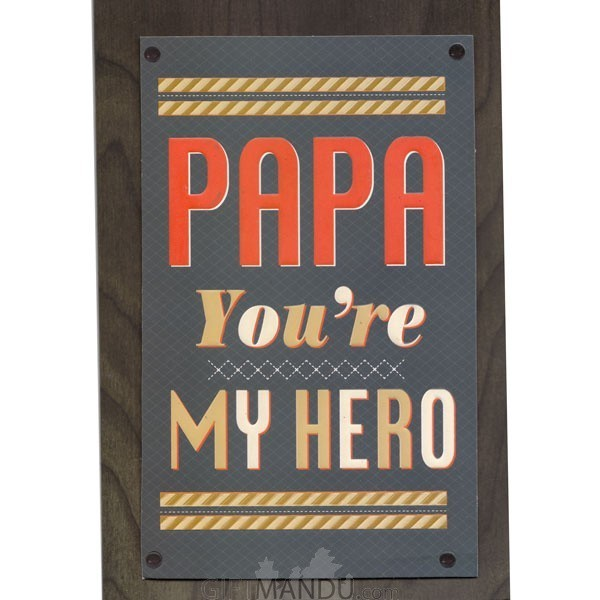 PAPA You're My Hero - Greeting Card