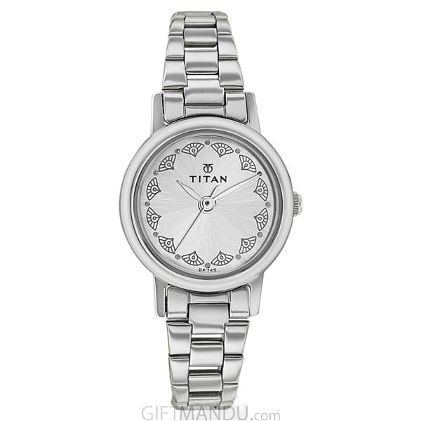 Titan Silver White Dial Analog Watch for Women - (917SM03)