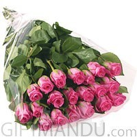 20 Long Stem Pink Roses Bouquet - HID