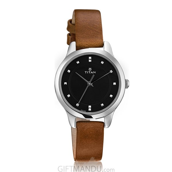 Titan Black Dial Analog Watch for Women-2481SL07