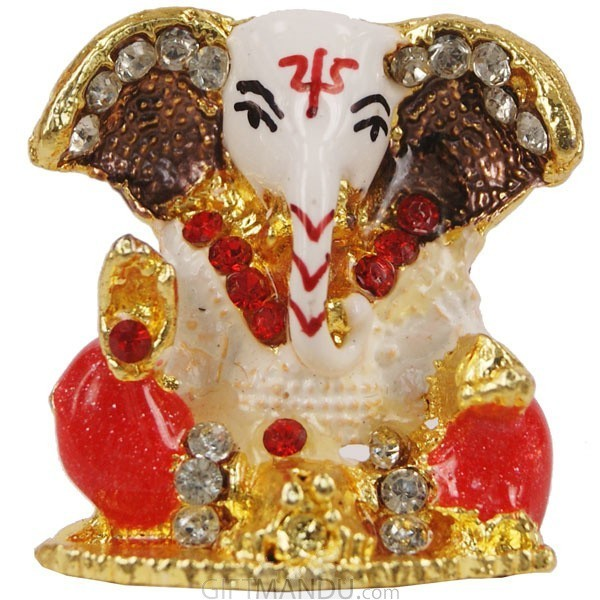 Beautiful Mini Ganesh Ji Metal Statue