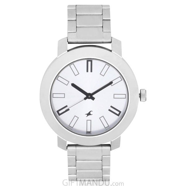 Fastrack Brass Case Silver Dial Analog Watch for Men (3120SM01)