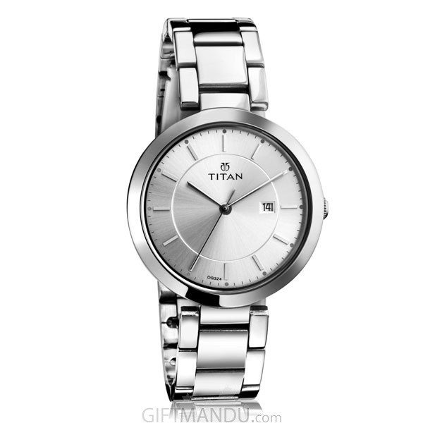 titan steel stylish watch woman 2480sm07 gifts to nepal