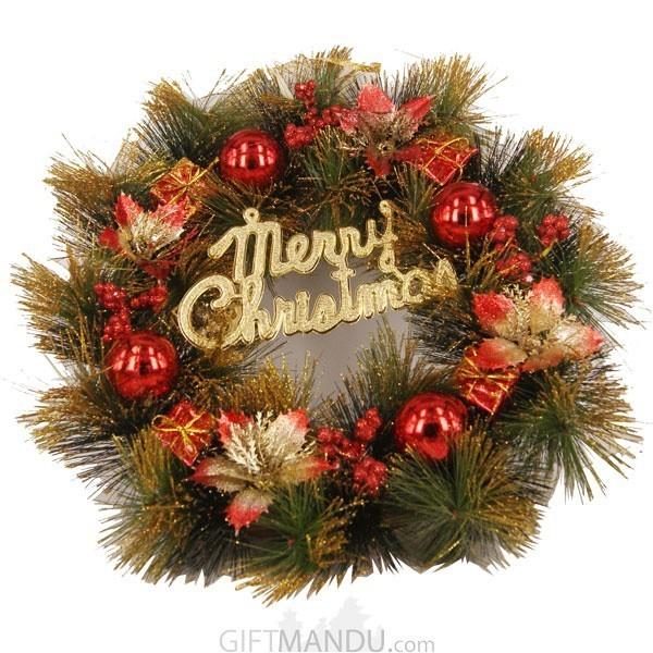 Christmas Decoration Wreath (11 Inch Diameter)