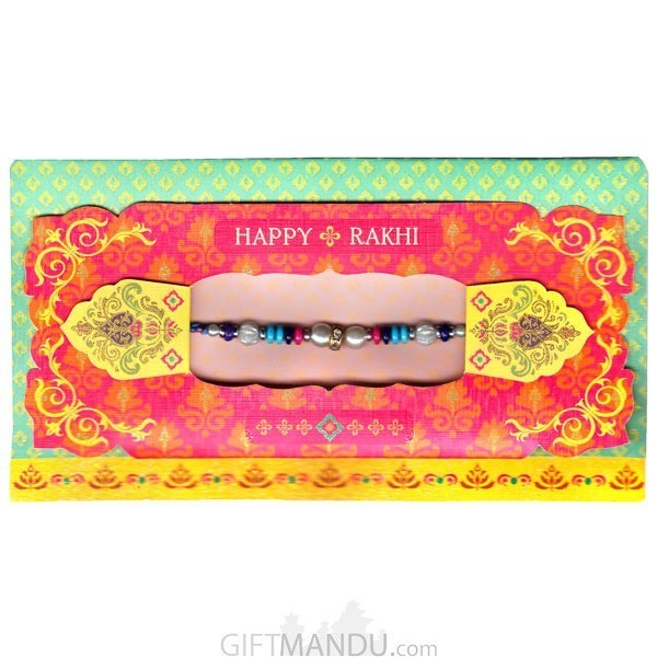 Happy Rakhi Greeting Card - (Rakhi Thread Included)