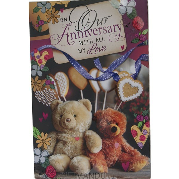 On Our Anniversary With All My Love - Greeting Card